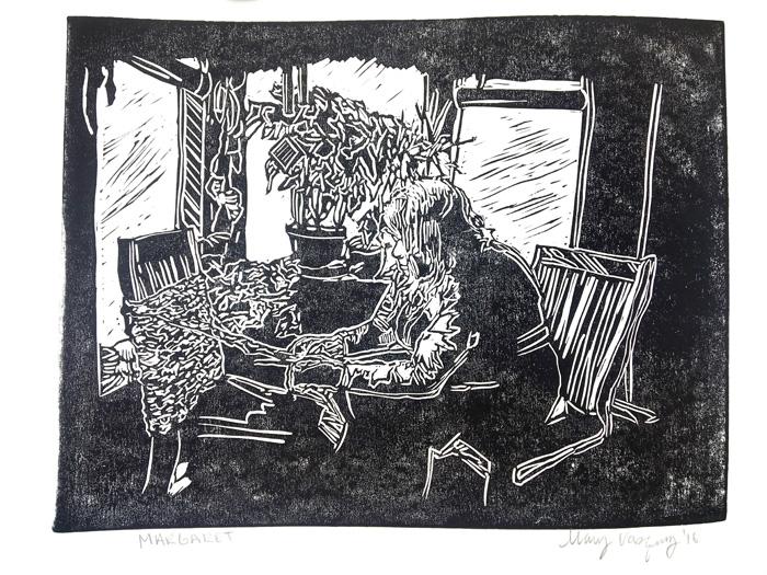 Margaret Linocut Print Award Winning