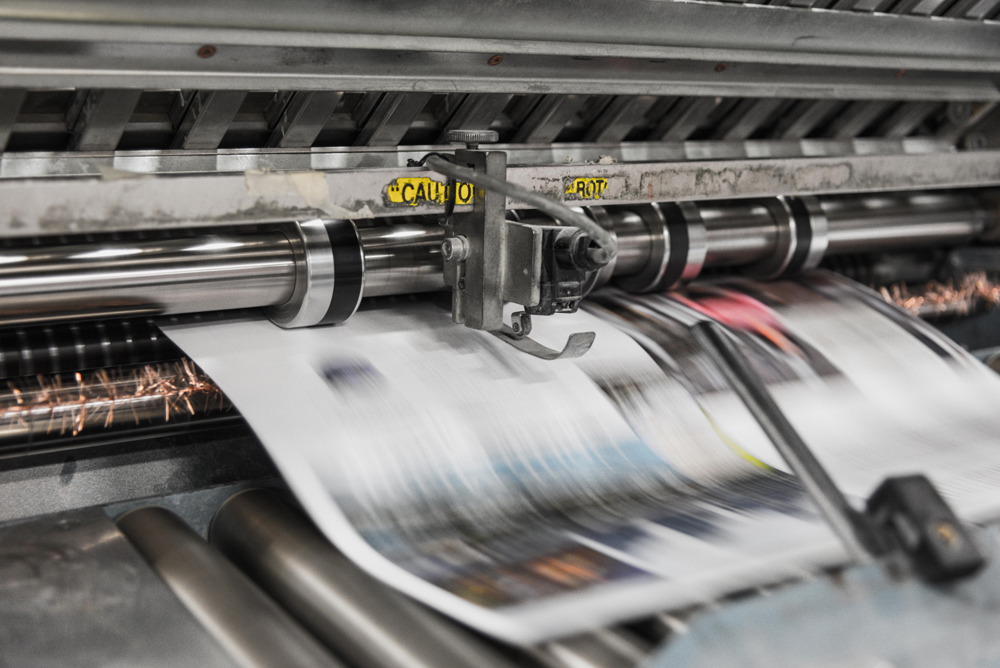 Printing a large sheet with commercial printer