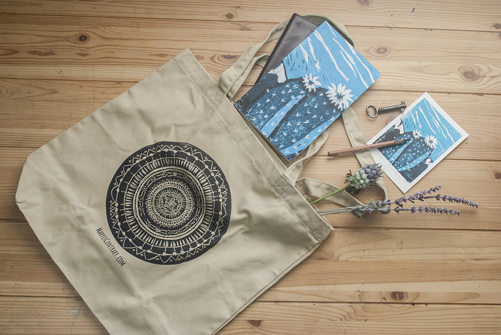 This is an image of a Mandala Tote Bag