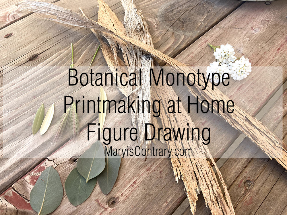 Botanical Monotype Printmaking at Home Figure Drawing Video