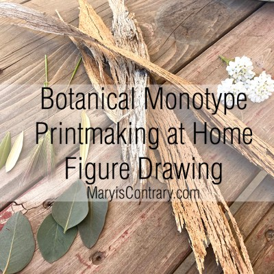 Botanical Monotype Printmaking at Home Figure Video
