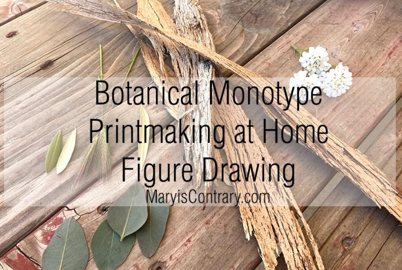 Botanical Monotype Printmaking at home
