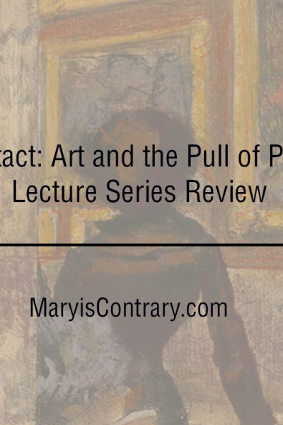Text over Degas print