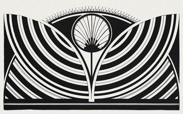 Stylized floral pattern (Gestileerd bloemmotief) (c.1905) print in high resolution by Samuel Jessurun de Mesquita smaller