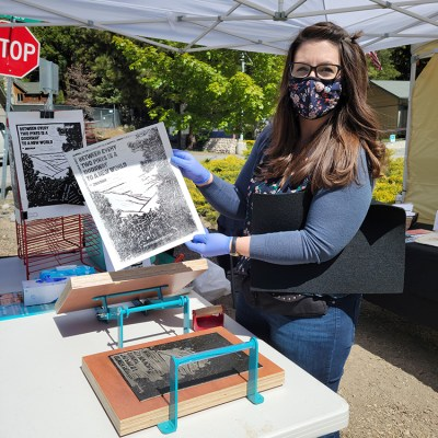 Print your own Poster at the Farmers Market