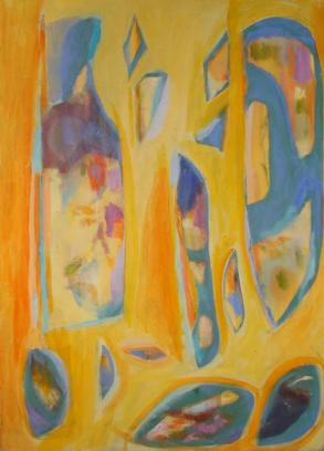 """46"""" x 33"""" Acrylic on Canvas - Unframed"""