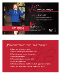 Business Card Design for Real Estate Agent