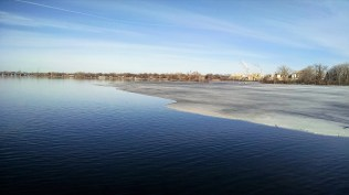 Ying and Yang. Ice and open water.