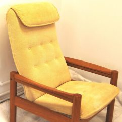 Mid Century Danish Chair Arm Protectors Pattern Modern Domino Mobler Teak Lounge