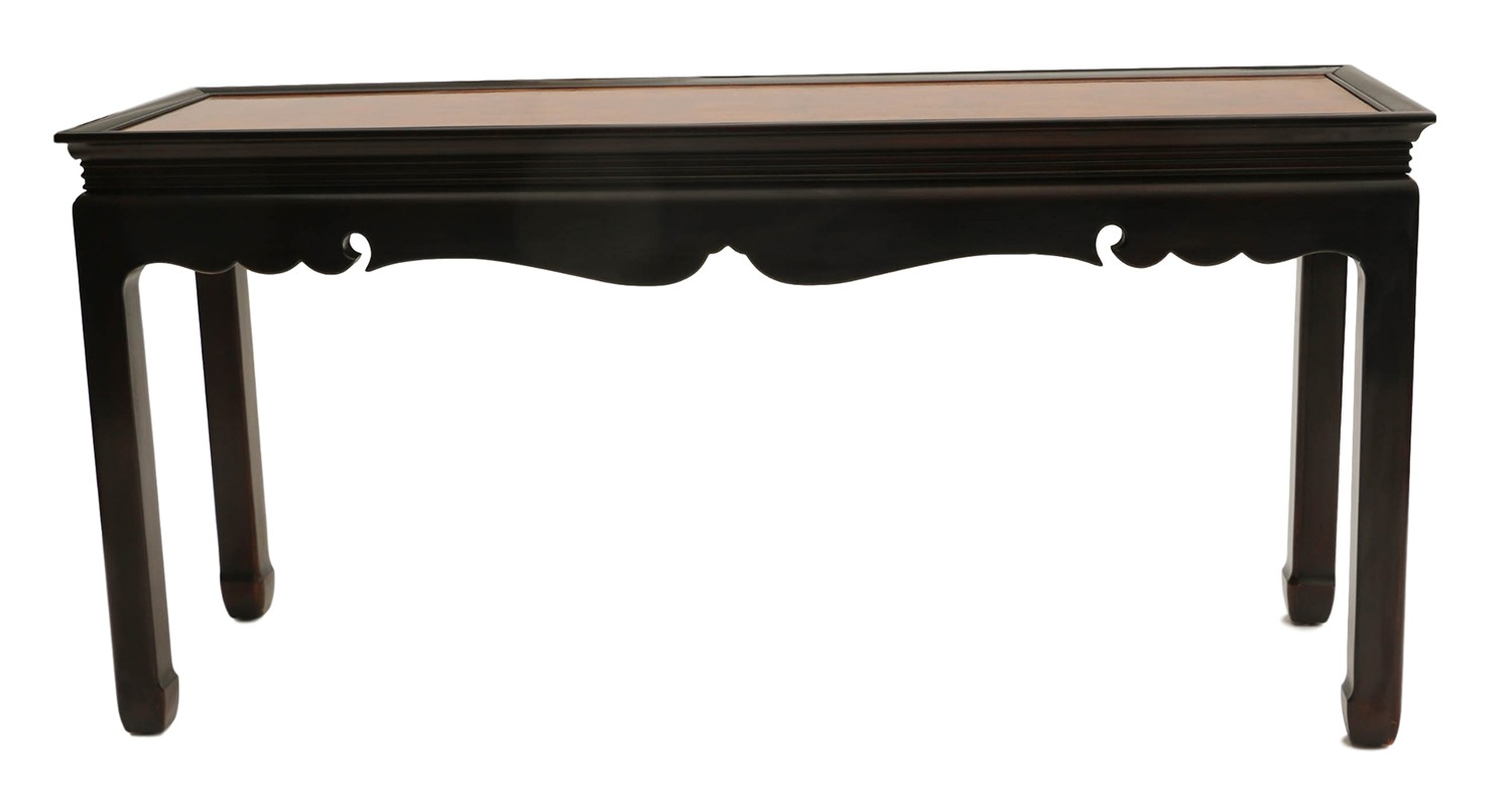 horse sofa table la z boy mackenzie reviews burlwood console asian oriental