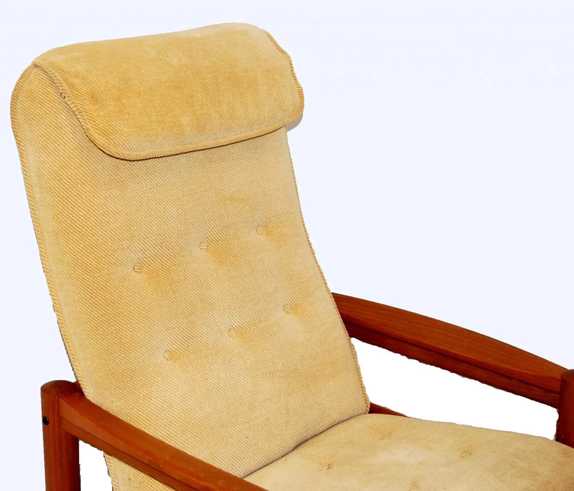 mid century danish chair hanging swing outdoor modern domino mobler teak lounge