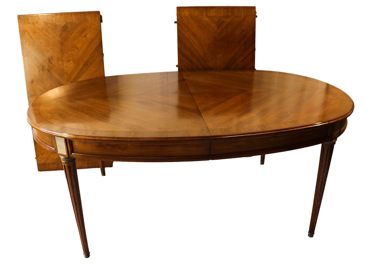 French Directoire Style Oval Walnut extending Dining Room