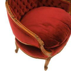 French Louis Chair Seat Covers Bed Bath And Beyond Xv Style Carved Walnut Upholstered Arm