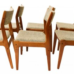 Danish Dining Chair Lounge Recliner Gorgeous Teak Scandinavia Modern Chairs Six