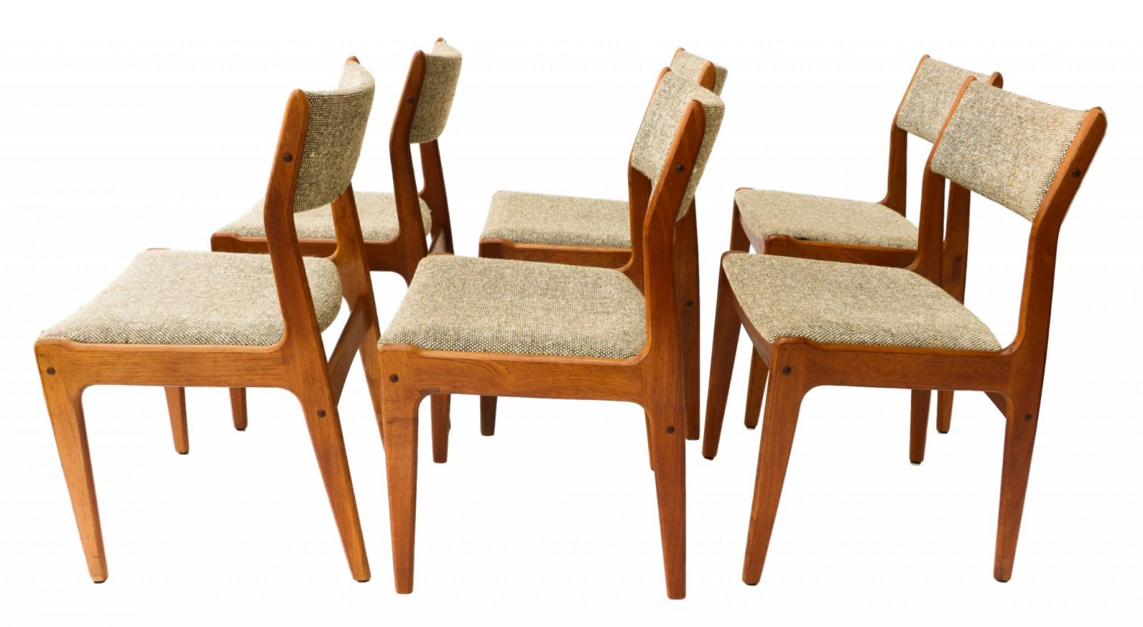 Danish Teak Dining Chairs Gorgeous Teak Scandinavia Danish Modern Dining Chairs Six