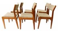 Gorgeous Teak Scandinavia Danish Modern Dining Chairs six