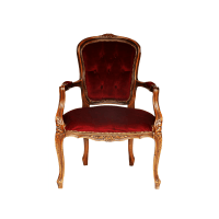 French Louis XV style walnut and upholstered Fauteuil ...
