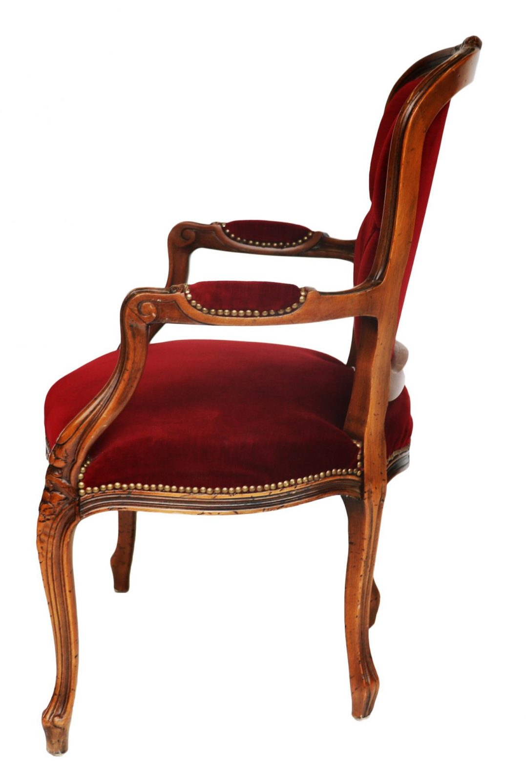 louis xv chair wheelchair pad french style walnut and upholstered fauteuil