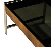 Mid Century Chrome Smoked Glass Coffee Table Milo Baughman ...