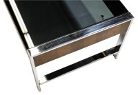Mid Century Chrome Smoked Glass Coffee Table Milo Baughman ...
