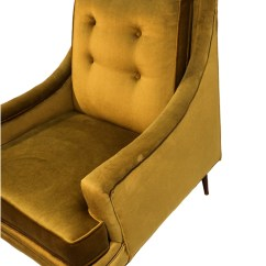 Green Lounge Chair Drexel Heritage Chairs Mid Century Velvet