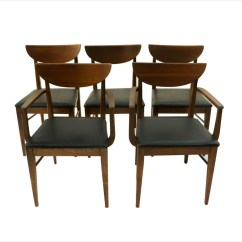 Mid Century Dining Chairs Wooden Office Chair Wheels Modern Bassett
