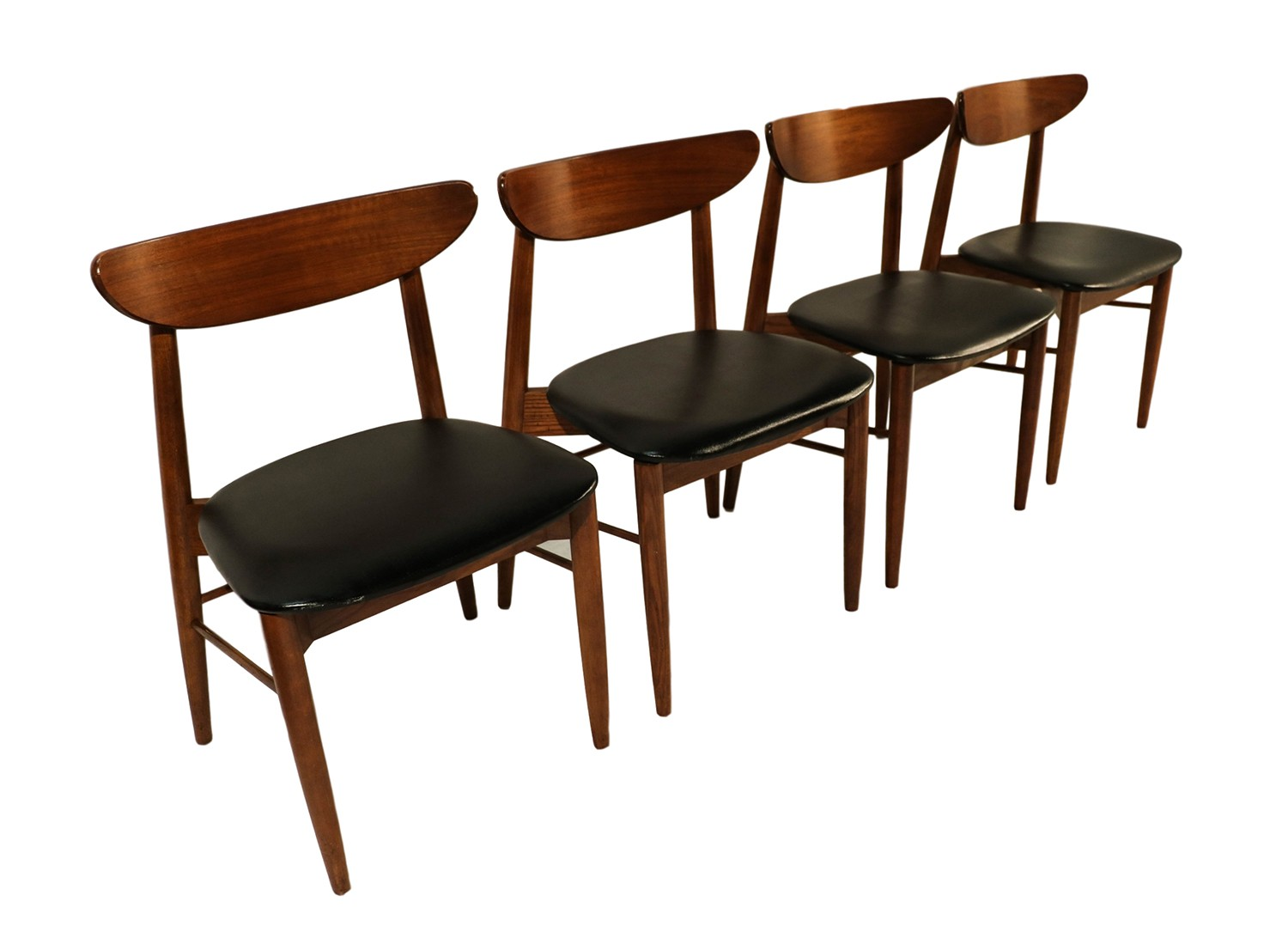 Mid Century Dining Chairs Lane Mid Century Modern Walnut Dining Chairs