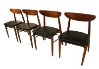 Lane Mid Century Modern Walnut Dining Chairs
