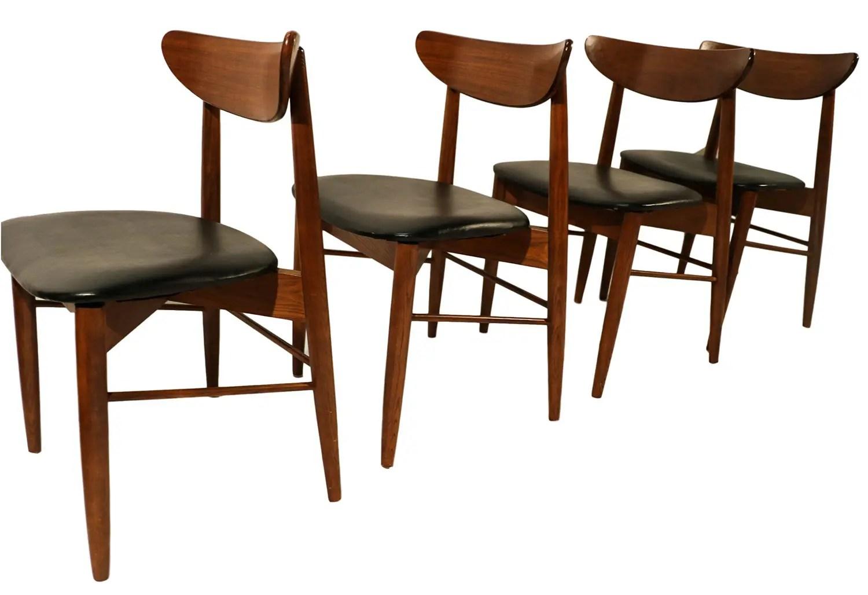 Mid Century Modern Walnut Dining Chairs