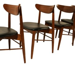 Mid Century Dining Chairs Lowes Outdoor Plastic Patio Lane Modern Walnut