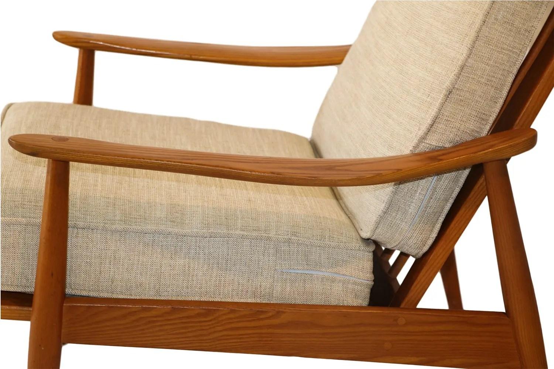teak lounge chair for vanity table mid century modern high back