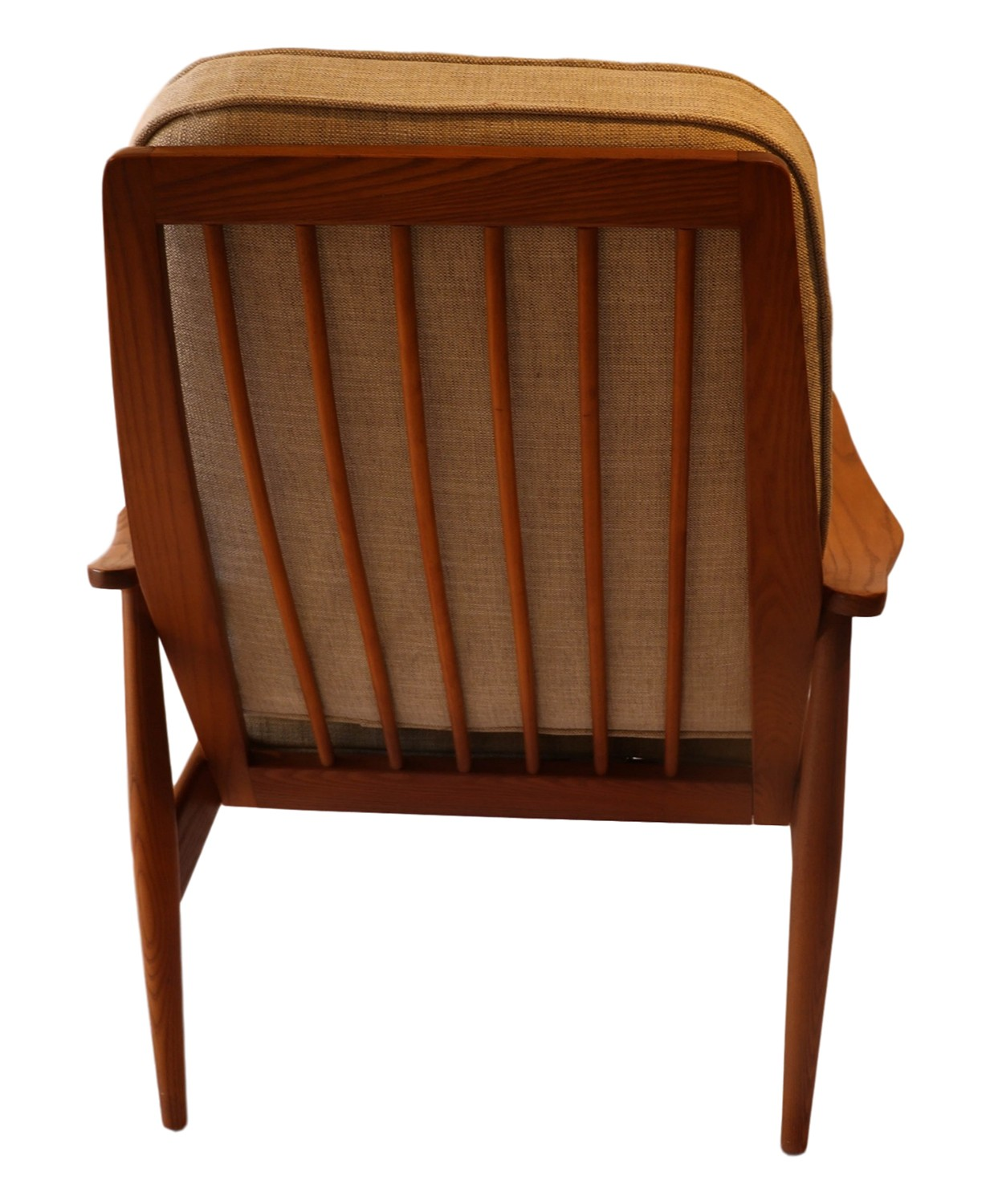 High Back Lounge Chair Mid Century Modern Teak High Back Lounge Chair