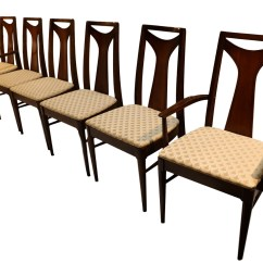 Mid Century Dining Chairs Banquet Chair Cap Covers Modern Walnut High Back