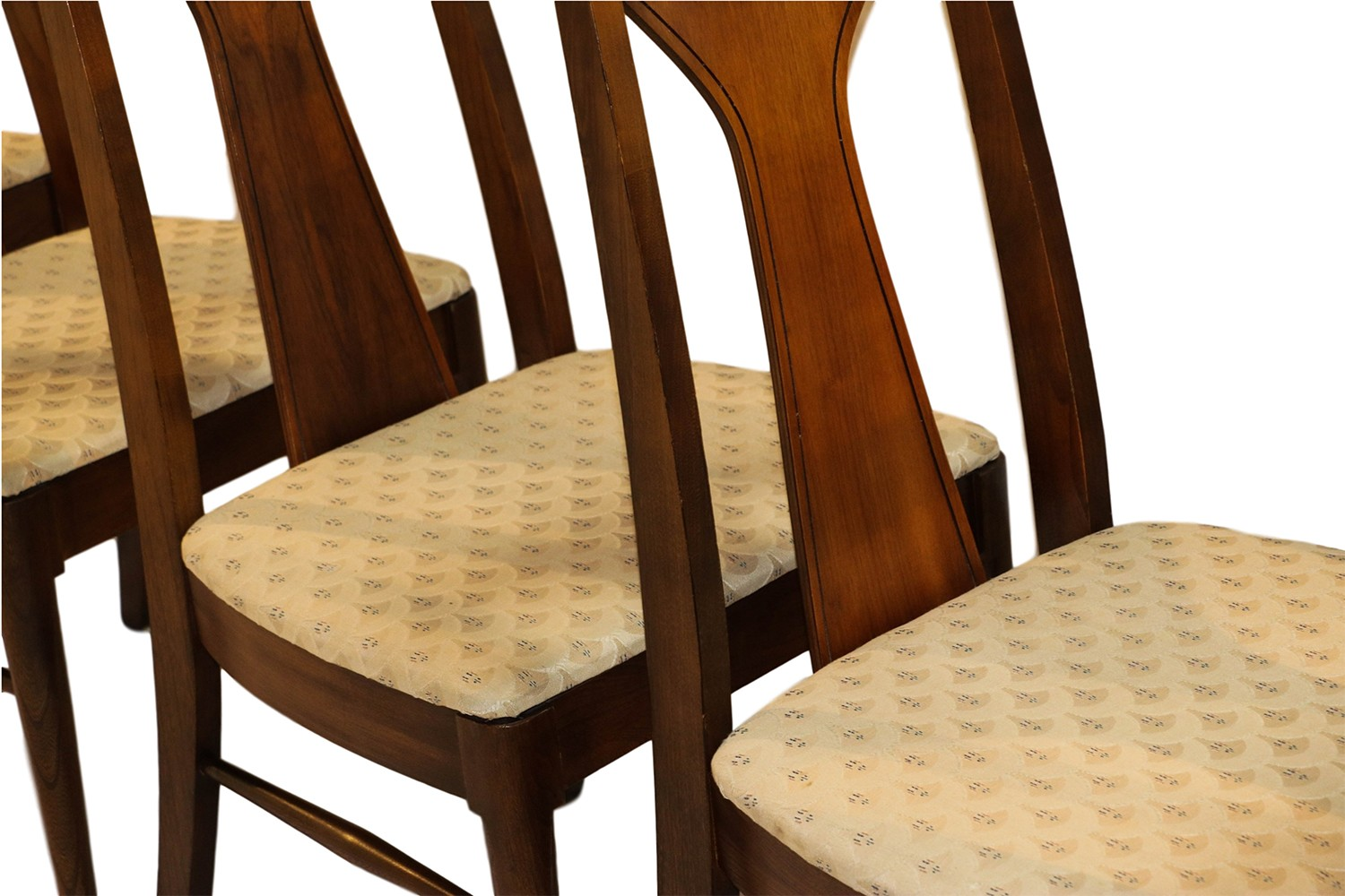 Tall Back Dining Chairs Mid Century Modern Walnut High Back Dining Chairs
