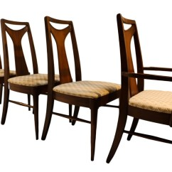 Mid Century Dining Chairs Plastic Resin Modern Walnut High Back