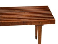 Mid Century Slatted Wood Bench coffee table George Nelson ...