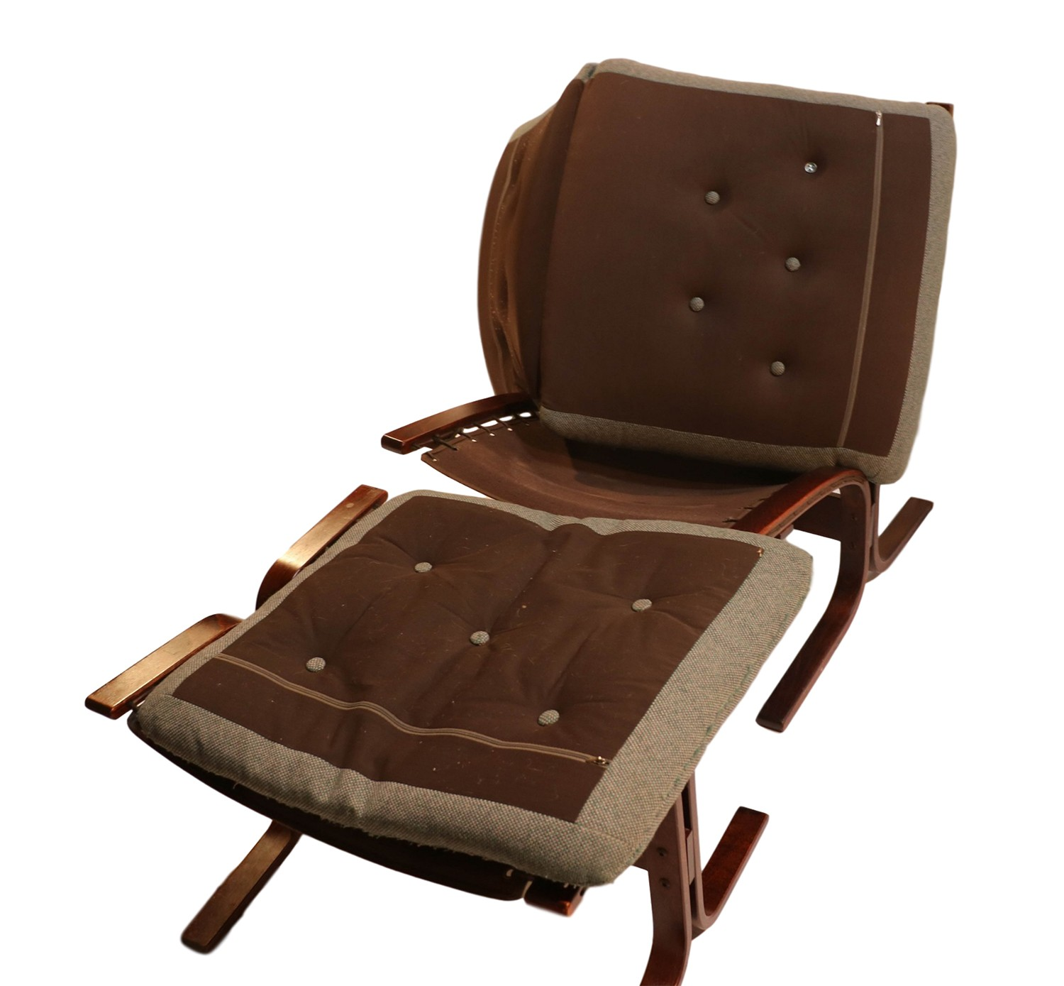 Mid Century Chair And Ottoman Mid Century Westnofa Siesta Rosewood Lounge Chair Ottoman