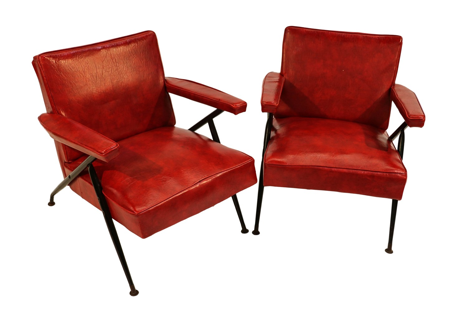red lounge chair best office chairs for back pain pair viko baumritter