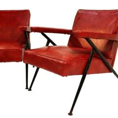 Red Lounge Chair Futon Covers Walmart Pair Viko Baumritter Chairs