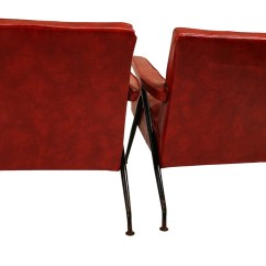 Red Lounge Chair Tranquil Ease Lift Parts Pair Viko Baumritter Chairs