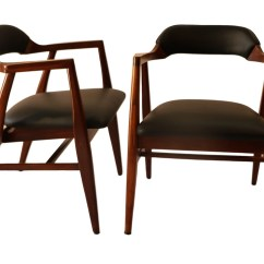 Mid Century Modern Side Chair Aeron Review Pair Leather Chairs