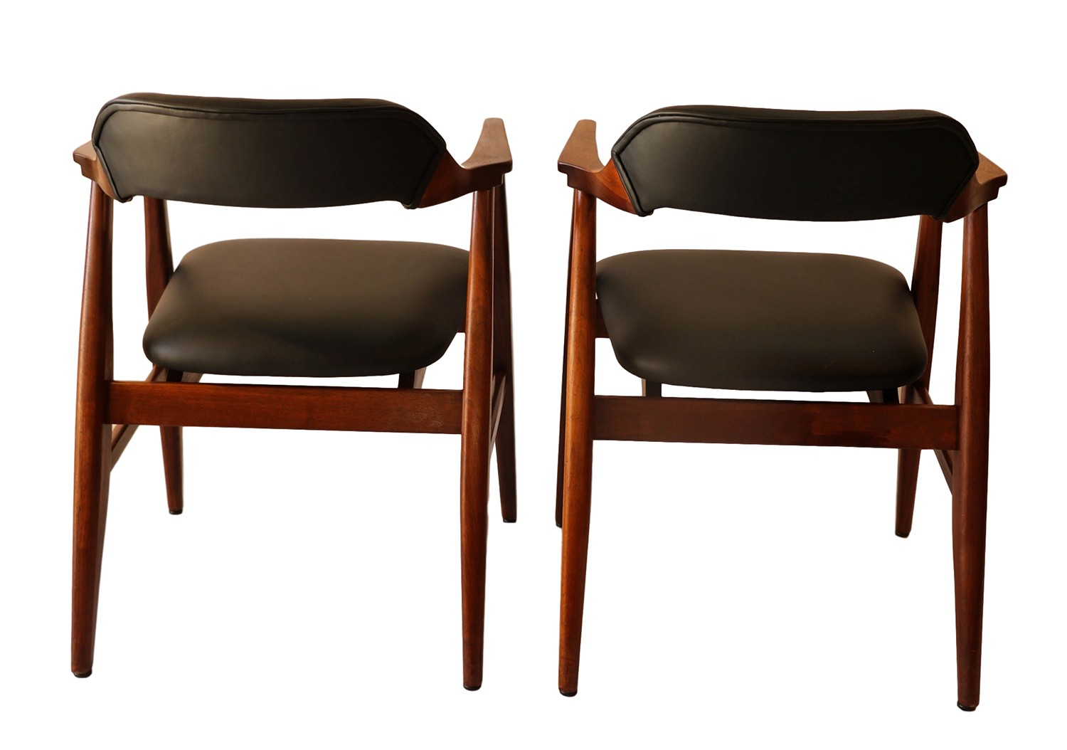 mid century modern side chair quirky swivel pair leather chairs