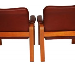 Ekornes Chair Accessories Recaro Desk Pair Of Leather And Teak Wood Chairs