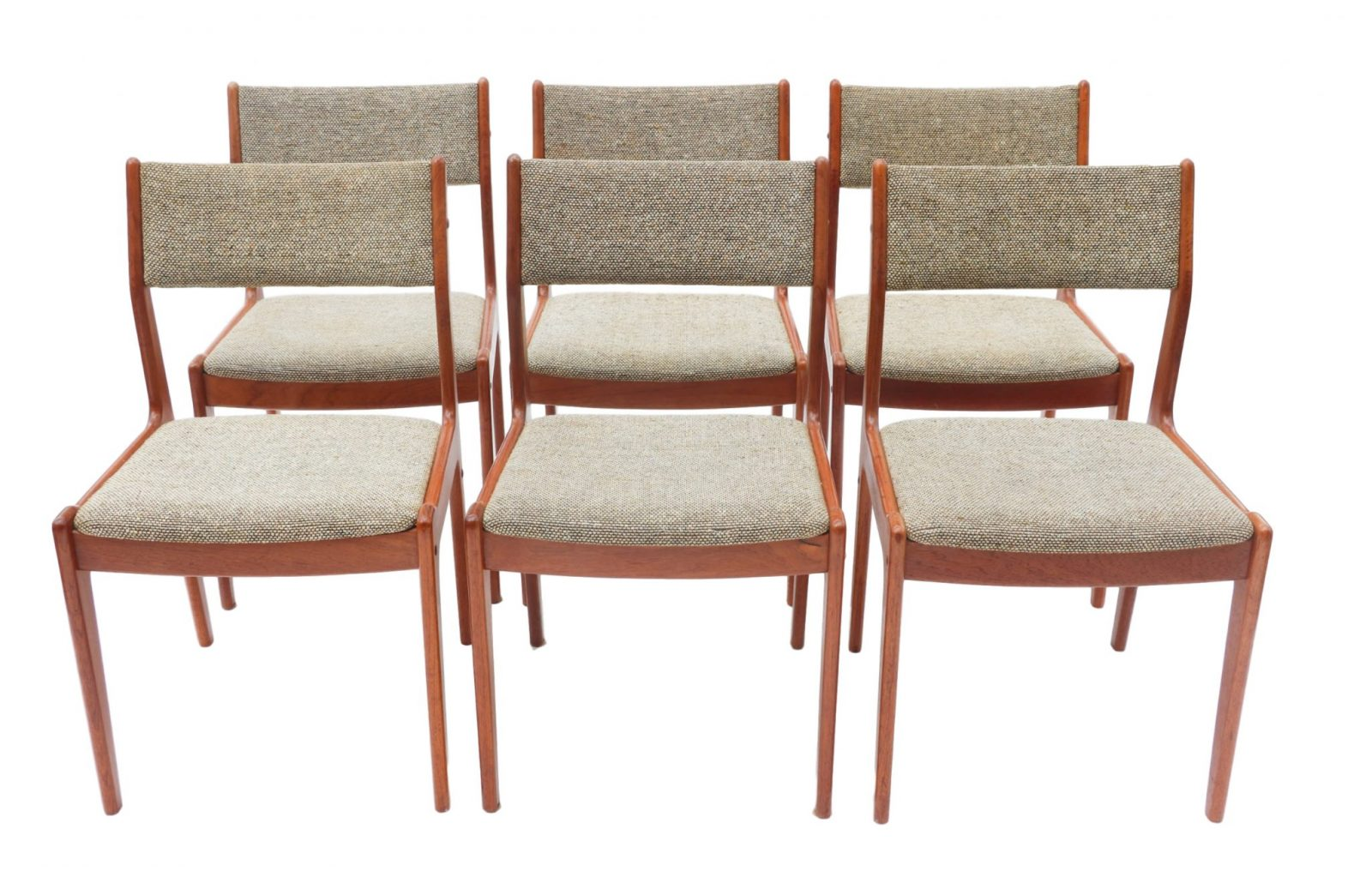 Danish Teak Dining Chairs Six Scandinavian Teak Danish Dining Chairs