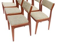 Six Scandinavian Teak Danish Dining Chairs