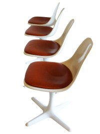 Set of Mid-Century Tulip Chairs by Burke