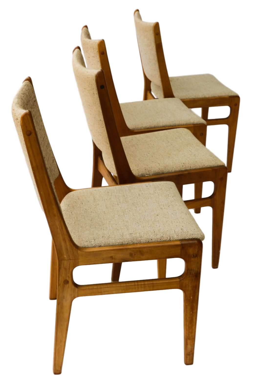 Danish Teak Dining Chairs Vintage D Scan Danish Teak Dining Chairs Four