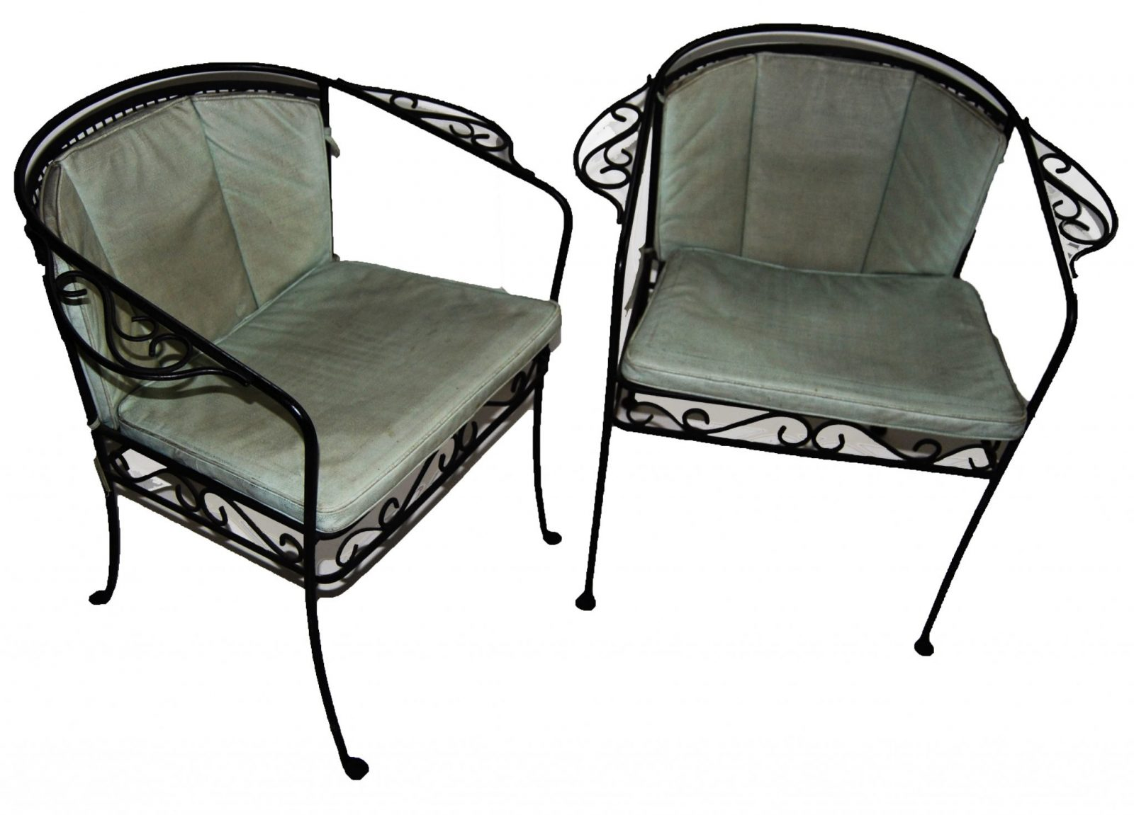Iron Patio Chairs Vintage Pair Of Iron Patio Arm Chairs