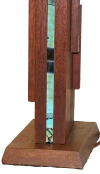 Mid Century Wooden Rectangular Table Lamp