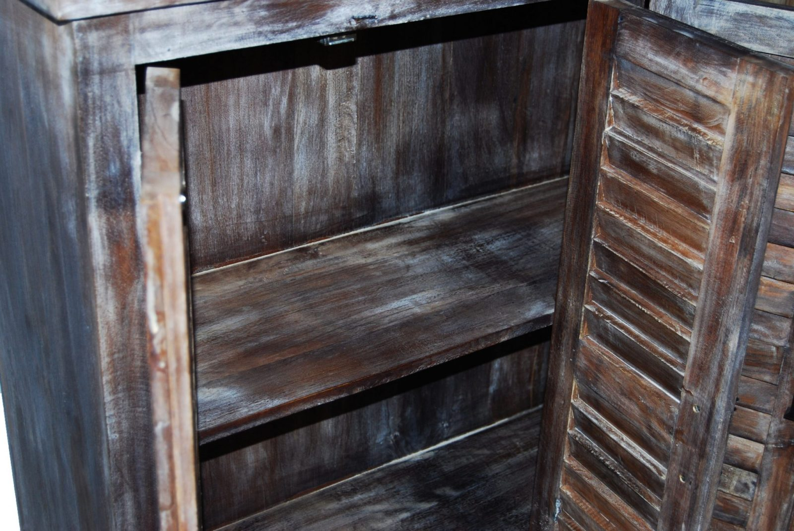 Reclaimed Wood Furniture Rustic Shutter Cabinet